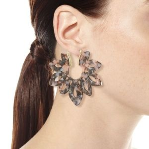 BAUBLEBAR Rita Resin Hoop Earrings